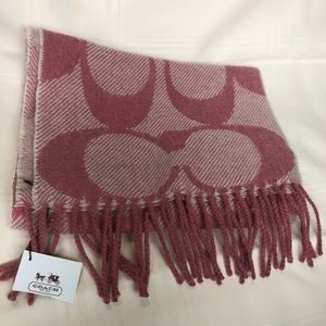 Coach Pink Scarf - brand new with tags